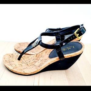 Lauren Ralph Lauren High Heel Cork Wedge Sandals